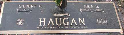 HAUGAN, GILBERT D. - Minnehaha County, South Dakota   GILBERT D. HAUGAN - South Dakota Gravestone Photos