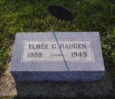 HAUGEN, ELMER G. - Minnehaha County, South Dakota | ELMER G. HAUGEN - South Dakota Gravestone Photos