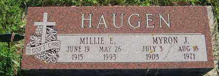 HAUGEN, MILLIE E. - Minnehaha County, South Dakota | MILLIE E. HAUGEN - South Dakota Gravestone Photos