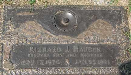 HAUGEN, RICHARD J. - Minnehaha County, South Dakota   RICHARD J. HAUGEN - South Dakota Gravestone Photos