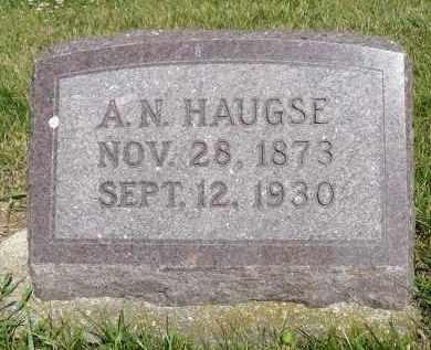 HAUGSE, ASBJORN N. - Minnehaha County, South Dakota   ASBJORN N. HAUGSE - South Dakota Gravestone Photos