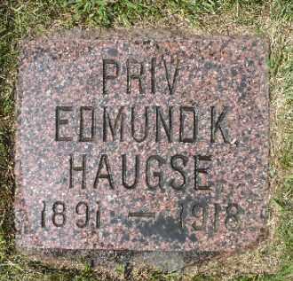 HAUGSE, EDMUND K, - Minnehaha County, South Dakota | EDMUND K, HAUGSE - South Dakota Gravestone Photos