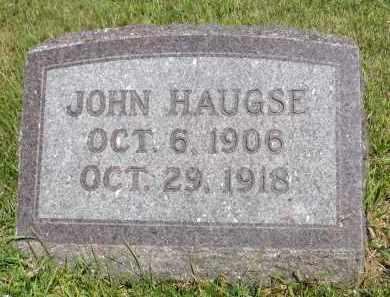 HAUGSE, JOHN - Minnehaha County, South Dakota | JOHN HAUGSE - South Dakota Gravestone Photos
