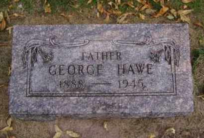 HAWE, GEORGE - Minnehaha County, South Dakota | GEORGE HAWE - South Dakota Gravestone Photos