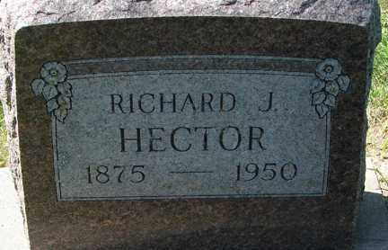 HECTOR, RICHARD J. - Minnehaha County, South Dakota | RICHARD J. HECTOR - South Dakota Gravestone Photos