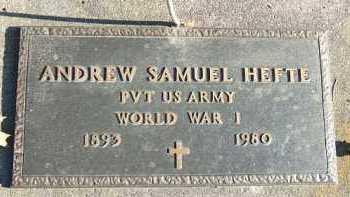 HEFTE, ANDREW SAMUEL - Minnehaha County, South Dakota | ANDREW SAMUEL HEFTE - South Dakota Gravestone Photos