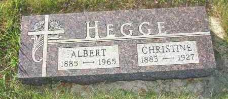 HEGGE, ALBERT - Minnehaha County, South Dakota   ALBERT HEGGE - South Dakota Gravestone Photos