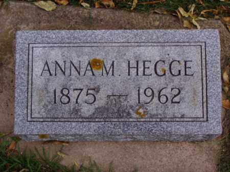 HEGGE, ANNA M. - Minnehaha County, South Dakota | ANNA M. HEGGE - South Dakota Gravestone Photos