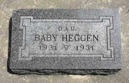 HEGGEN, BABY - Minnehaha County, South Dakota | BABY HEGGEN - South Dakota Gravestone Photos