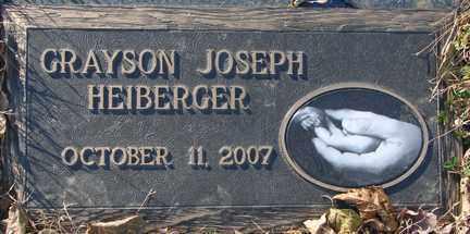 HEIBERGER, GRAYSON JOSEPH - Minnehaha County, South Dakota   GRAYSON JOSEPH HEIBERGER - South Dakota Gravestone Photos