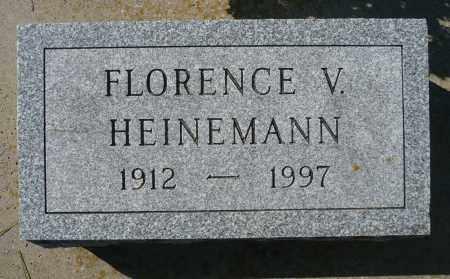 HEINEMANN, FLORENCE V. - Minnehaha County, South Dakota   FLORENCE V. HEINEMANN - South Dakota Gravestone Photos