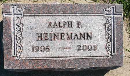 HEINEMANN, RALPH P. - Minnehaha County, South Dakota   RALPH P. HEINEMANN - South Dakota Gravestone Photos