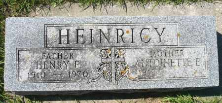 HEINRICY, ANTOINETTE E. - Minnehaha County, South Dakota | ANTOINETTE E. HEINRICY - South Dakota Gravestone Photos