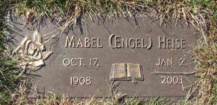 ENGEL HEISE, MABEL - Minnehaha County, South Dakota   MABEL ENGEL HEISE - South Dakota Gravestone Photos