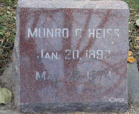HEISS, MUNRO C. - Minnehaha County, South Dakota   MUNRO C. HEISS - South Dakota Gravestone Photos