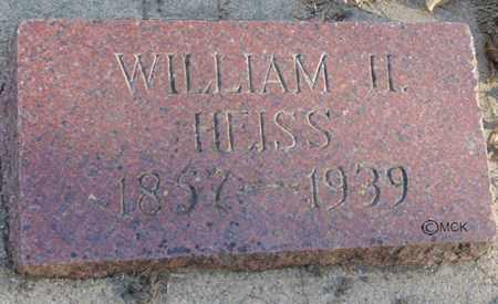 HEISS, WILLIAM H. - Minnehaha County, South Dakota | WILLIAM H. HEISS - South Dakota Gravestone Photos
