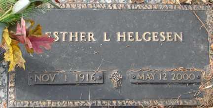 HELGESEN, ESTHER L. - Minnehaha County, South Dakota | ESTHER L. HELGESEN - South Dakota Gravestone Photos