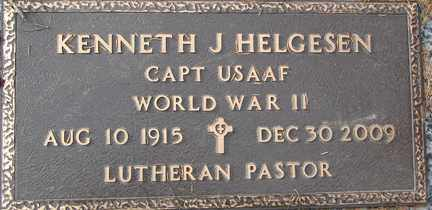 HELGESEN, KENNETH J. (WWII) - Minnehaha County, South Dakota   KENNETH J. (WWII) HELGESEN - South Dakota Gravestone Photos