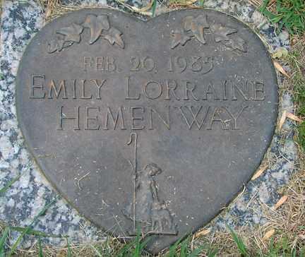 HEMENWAY, EMILY LORRAINE - Minnehaha County, South Dakota | EMILY LORRAINE HEMENWAY - South Dakota Gravestone Photos