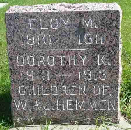HEMMEN, ELOY M. - Minnehaha County, South Dakota | ELOY M. HEMMEN - South Dakota Gravestone Photos
