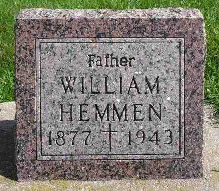 HEMMEN, WILLIAM - Minnehaha County, South Dakota | WILLIAM HEMMEN - South Dakota Gravestone Photos
