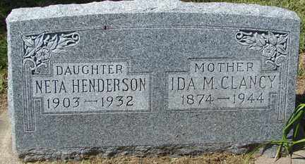 CLANCY, IDA M. - Minnehaha County, South Dakota | IDA M. CLANCY - South Dakota Gravestone Photos