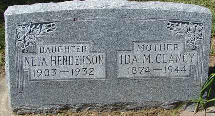 HENDERSON, NETA - Minnehaha County, South Dakota | NETA HENDERSON - South Dakota Gravestone Photos