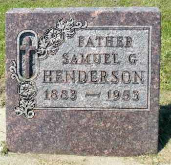HENDERSON, SAMUEL G. - Minnehaha County, South Dakota | SAMUEL G. HENDERSON - South Dakota Gravestone Photos
