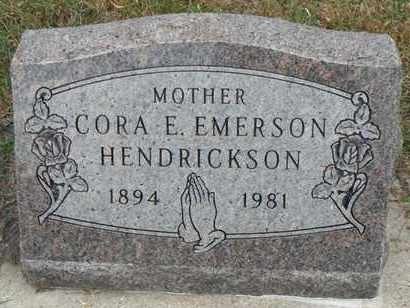 HENDRICKSON, CORA E. - Minnehaha County, South Dakota | CORA E. HENDRICKSON - South Dakota Gravestone Photos