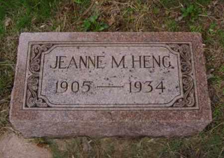 HENG, JEANNE M. - Minnehaha County, South Dakota   JEANNE M. HENG - South Dakota Gravestone Photos