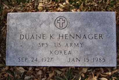 HENNAGER, DUANE K. - Minnehaha County, South Dakota | DUANE K. HENNAGER - South Dakota Gravestone Photos