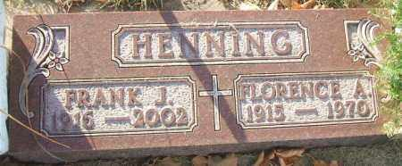 HENNING, FLORENCE A. - Minnehaha County, South Dakota | FLORENCE A. HENNING - South Dakota Gravestone Photos