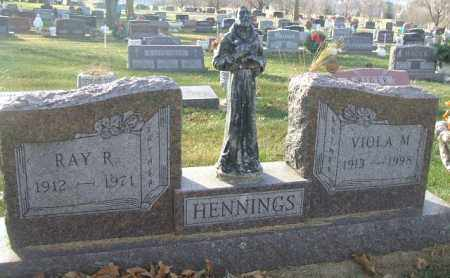 HENNINGS, RAY R. - Minnehaha County, South Dakota   RAY R. HENNINGS - South Dakota Gravestone Photos