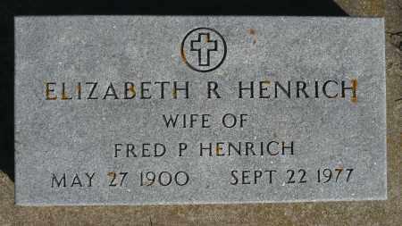 HENRICH, ELIZABETH R. - Minnehaha County, South Dakota | ELIZABETH R. HENRICH - South Dakota Gravestone Photos