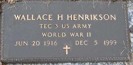 HENRIKSON, WALLACE H. (WWII) - Minnehaha County, South Dakota | WALLACE H. (WWII) HENRIKSON - South Dakota Gravestone Photos