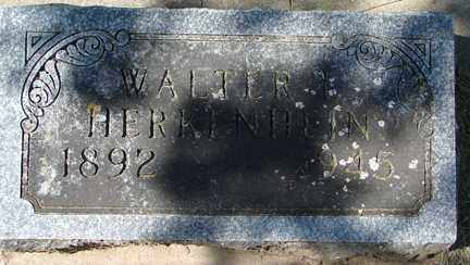 HERKENHEIN, WALTER - Minnehaha County, South Dakota | WALTER HERKENHEIN - South Dakota Gravestone Photos