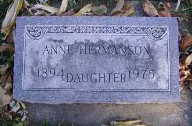 HERMANSON, ANNE - Minnehaha County, South Dakota | ANNE HERMANSON - South Dakota Gravestone Photos
