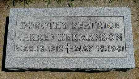 HERMANSON, DOROTHY BEATRICE - Minnehaha County, South Dakota | DOROTHY BEATRICE HERMANSON - South Dakota Gravestone Photos