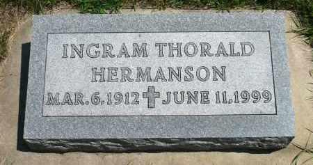 HERMANSON, INGRAM THORALD - Minnehaha County, South Dakota | INGRAM THORALD HERMANSON - South Dakota Gravestone Photos