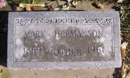 HERMANSON, MARY - Minnehaha County, South Dakota | MARY HERMANSON - South Dakota Gravestone Photos