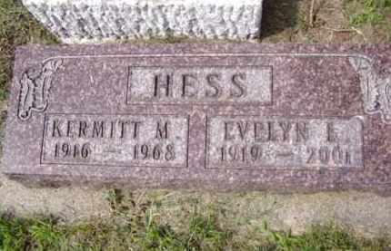 HESS, EVELYN L. - Minnehaha County, South Dakota | EVELYN L. HESS - South Dakota Gravestone Photos