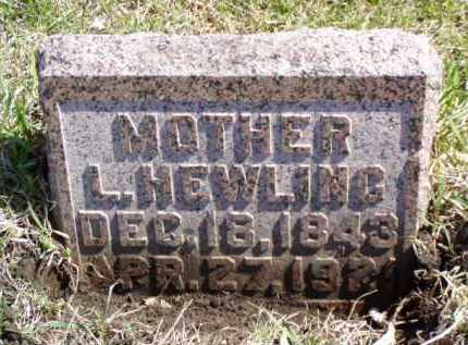 HEWLING, LENORA H. - Minnehaha County, South Dakota | LENORA H. HEWLING - South Dakota Gravestone Photos