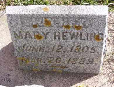 HEWLING, MARY - Minnehaha County, South Dakota | MARY HEWLING - South Dakota Gravestone Photos