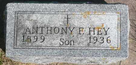 HEY, ANTHONY - Minnehaha County, South Dakota | ANTHONY HEY - South Dakota Gravestone Photos