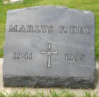 HEY, MARLYS F. - Minnehaha County, South Dakota | MARLYS F. HEY - South Dakota Gravestone Photos