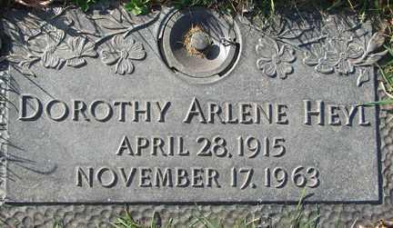 HEYL, DOROTHY ARLENE - Minnehaha County, South Dakota | DOROTHY ARLENE HEYL - South Dakota Gravestone Photos