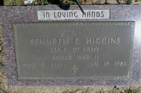 HIGGINS, KENNETH C. - Minnehaha County, South Dakota | KENNETH C. HIGGINS - South Dakota Gravestone Photos