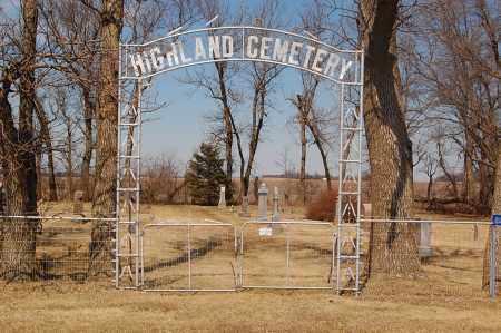 *HIGHLAND CEMETERY, ENTRANCE - Minnehaha County, South Dakota | ENTRANCE *HIGHLAND CEMETERY - South Dakota Gravestone Photos