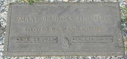BRIDGES HIGNIE, MARY - Minnehaha County, South Dakota | MARY BRIDGES HIGNIE - South Dakota Gravestone Photos