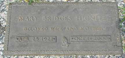 BRIDGES HIGNIE, MARY - Minnehaha County, South Dakota | MARY BRIDGES HIGNIE - South Dakota Gravestone Photos